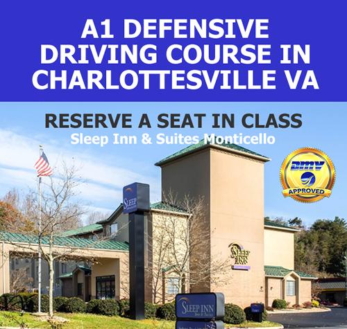 A1 Driver Improvement Clinic in Charlottesville VA